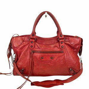 BALENCIAGA CROSSBODY BAG THE CITY RED 1013316